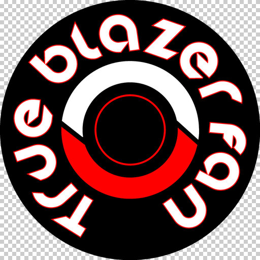 true blazer fan logo
