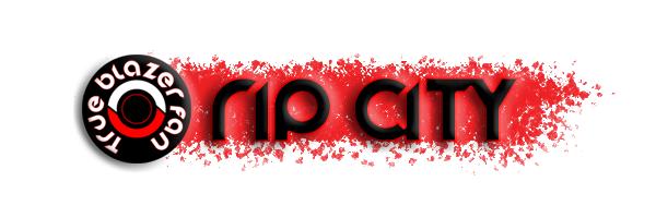 true blazer fan rip city small logo
